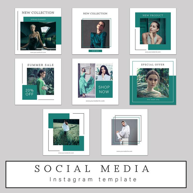 szablony-instagram-template-kwadratowe-zielone