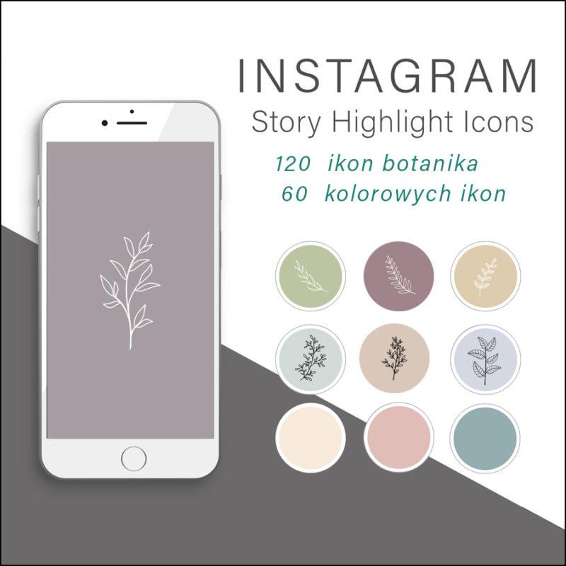 botanika-kwiaty-rysowane-ikony-instagram-story-okladka-insta-stories-grafika-kategori-sklepu