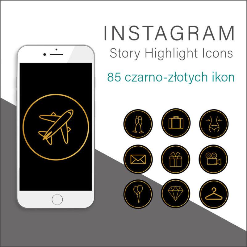 czarno-zlote-rysowane-ikony-instagram-story-okladka-insta-stories-1