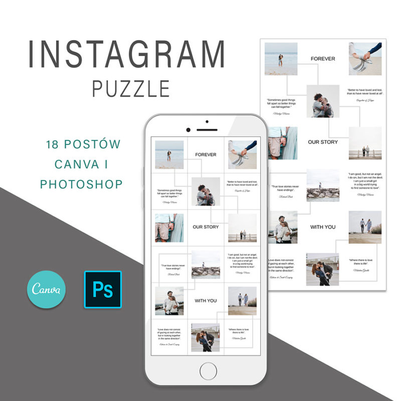 puzzle-instagram-szablon-dla-canva-photoshop-post-social-media-love-1