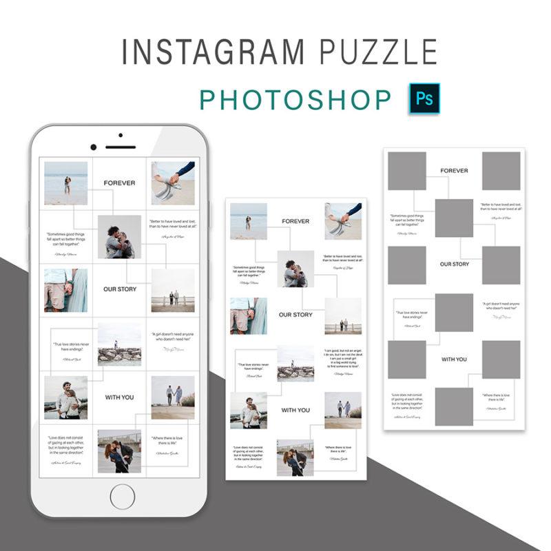 puzzle-instagram-szablon-dla-canva-photoshop-post-social-media-love-3