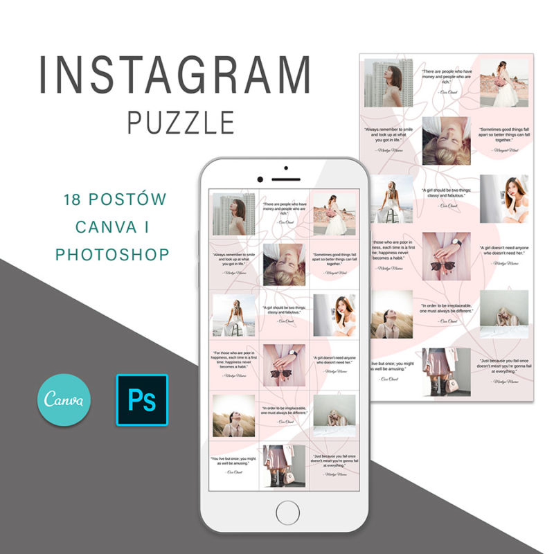 puzzle-instagram-szablon-dla-canva-photoshop-post-social-media-rozowy-botanika-1