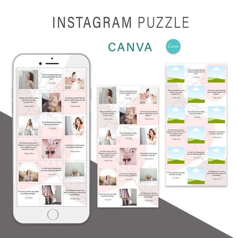 puzzle-instagram-szablon-dla-canva-photoshop-post-social-media-rozowy-botanika-2