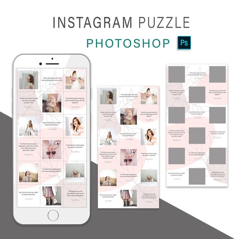 puzzle-instagram-szablon-dla-canva-photoshop-post-social-media-rozowy-botanika-3