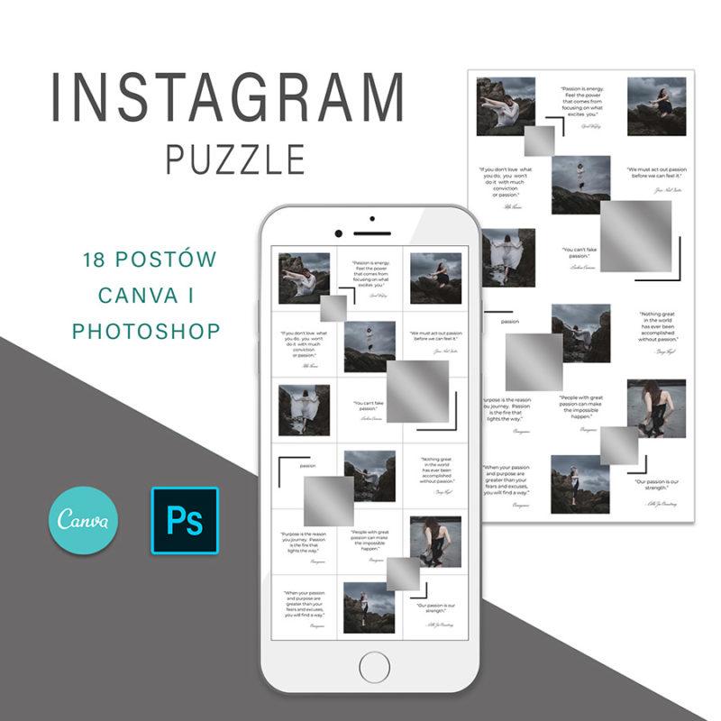 puzzle-instagram-szablon-dla-canva-photoshop-post-social-media-srebrny-1