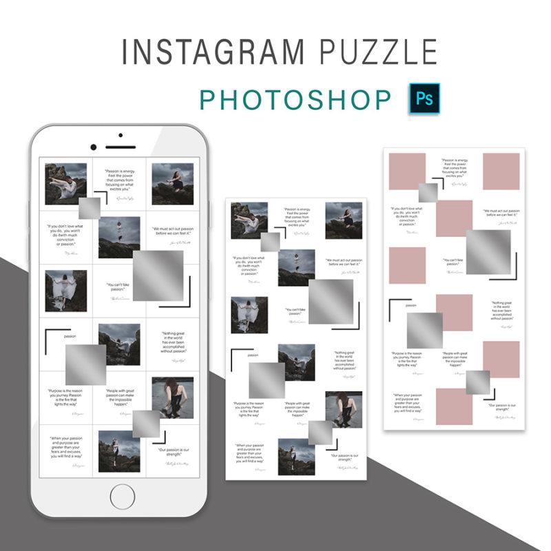 puzzle-instagram-szablon-dla-canva-photoshop-post-social-media-srebrny-3