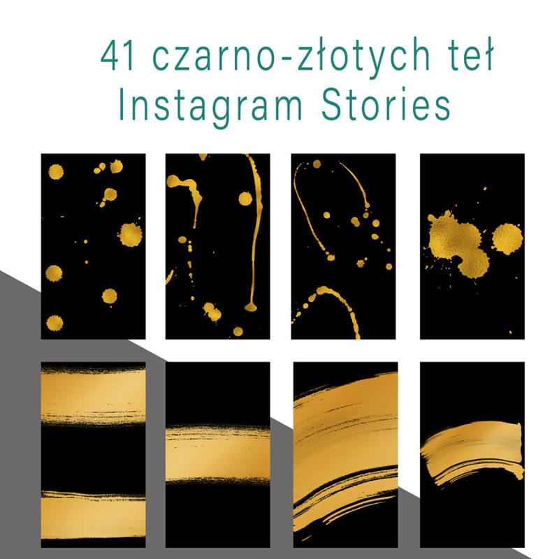 instagram-stories-cyfrowe-tla-czarny-złoty-tusz-kleks-mazniecie-farba-social-media-zestaw-teł