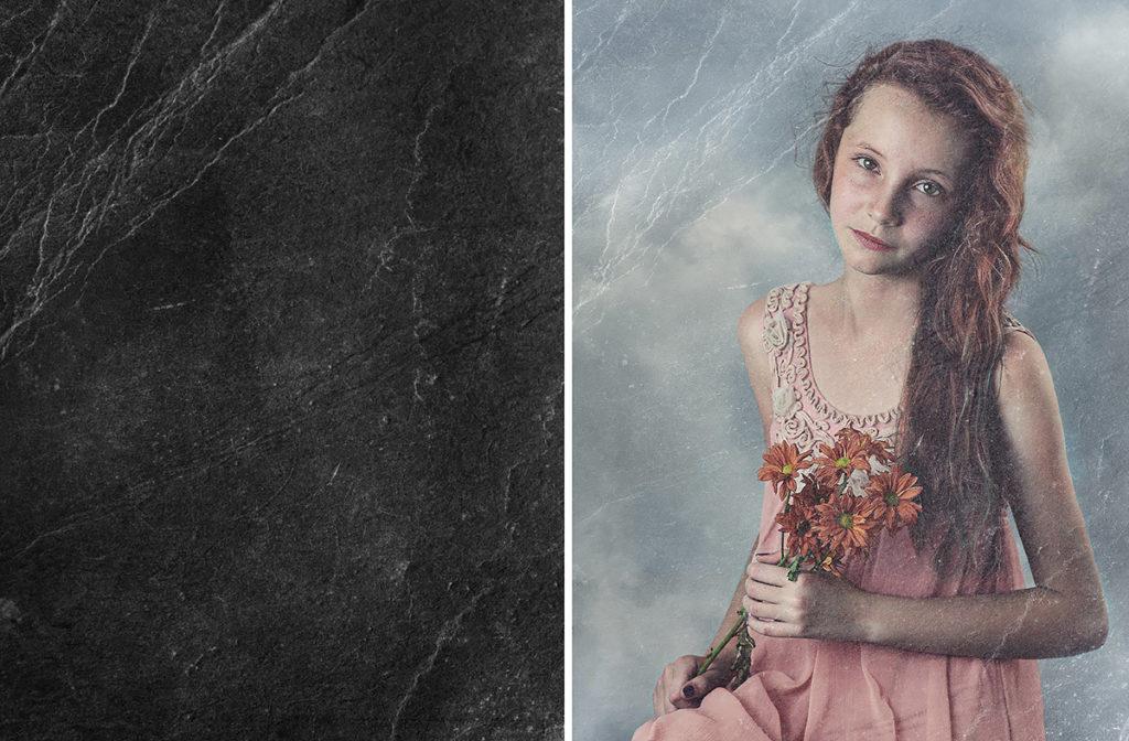 tekstury-black-screen-efekt-starego-podniszczonego-zdjęcia-portret-dziewczyny