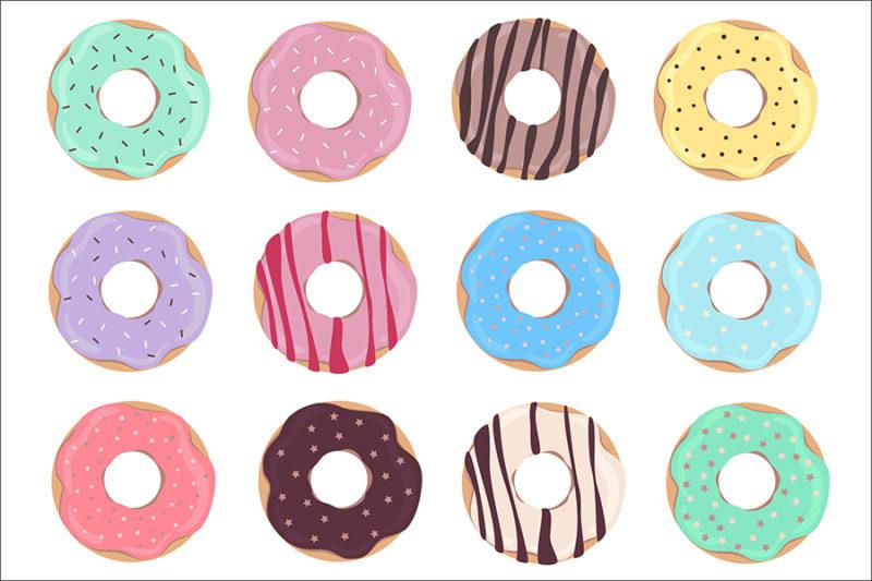 grafika-wektorowa-png-svg-ai-eps-donuty-czekoladowe-z-polewa-ciastka-2