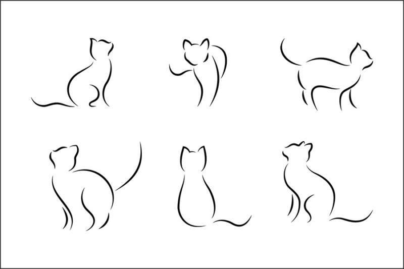 grafika-wektorowa-png-svg-ai-eps-kot-linia-rysunek-liniowy-ilustracja-clip-art-2