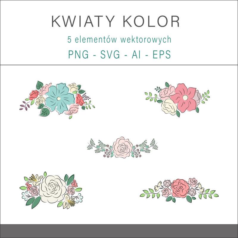 grafika-wektorowa-png-svg-ai-eps-kwiaty-kolorowe-kolor-wiazanka-bukiet-linia-rysunek-liniowy-ilustracja-clip-art-1