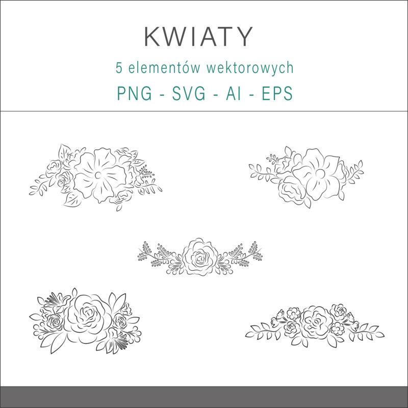 grafika-wektorowa-png-svg-ai-eps-kwiaty-wiazanka-bukiet-linia-rysunek-liniowy-ilustracja-clip-art-1