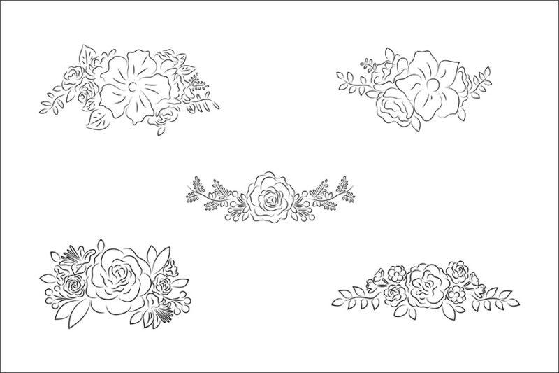 grafika-wektorowa-png-svg-ai-eps-kwiaty-wiazanka-bukiet-linia-rysunek-liniowy-ilustracja-clip-art-2