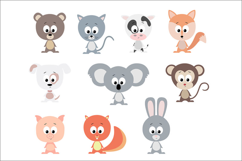 grafika-wektorowa-png-svg-ai-eps-zwierzeta-kot-pies-malpka-koala-krowa-lis-swinka-lis-2