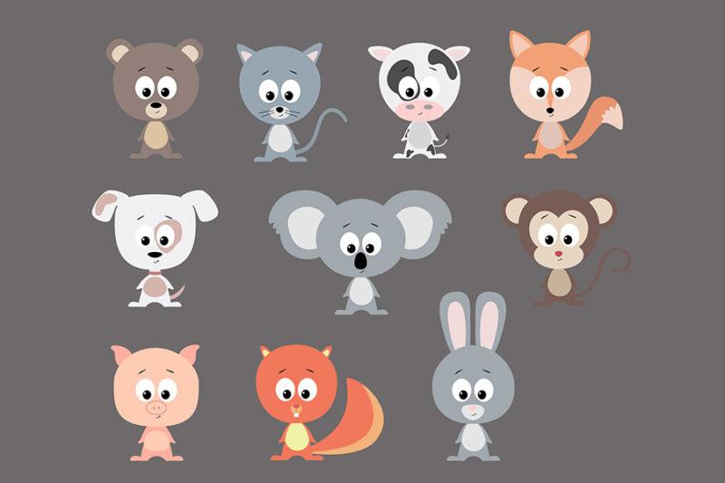 grafika-wektorowa-png-svg-ai-eps-zwierzeta-kot-pies-malpka-koala-krowa-lis-swinka-lis-3
