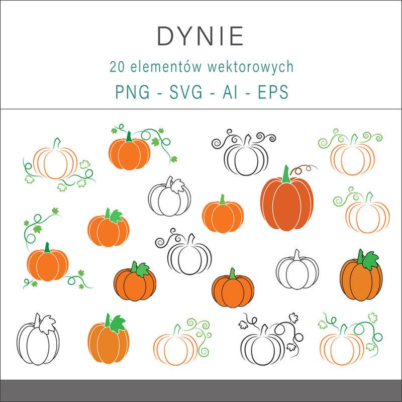 grafika-wektorowa-png-svg-ai-eps-dynie-halloween-lineart-rysunek-ilustracja-1