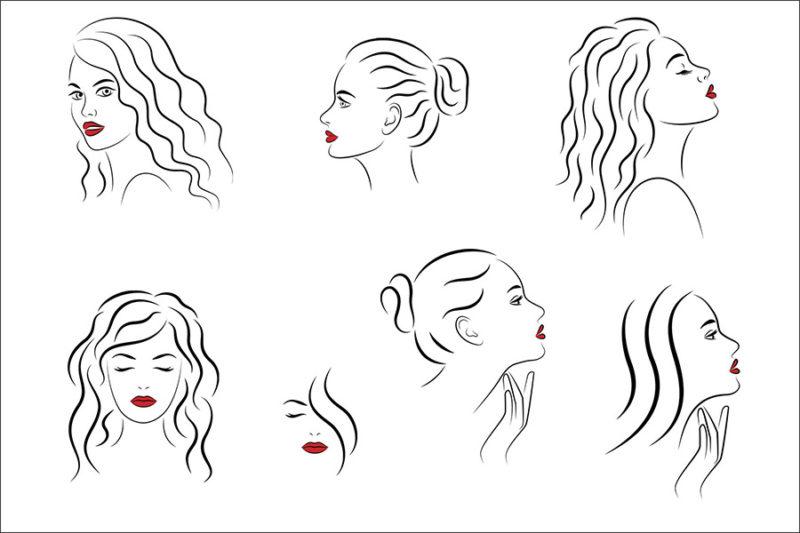 grafika-wektorowa-png-svg-ai-eps-kobieta-twarz-rysunek-logo-ilustracja-clip-art-19