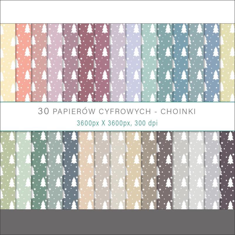 papier-cyfrowy-choinki-bezszwowe-wzory-gwiazdy-drzewa-zima-swieta-pakiet-30-sztuk-1