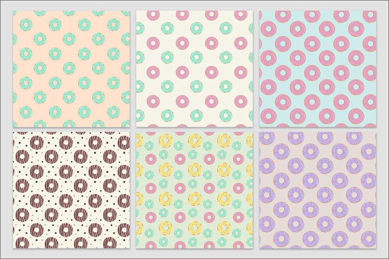 papier-cyfrowy-donuty-bezszwowe-wzory-paczki-z-dziurka-ciastka-pakiet-30-sztuk-2