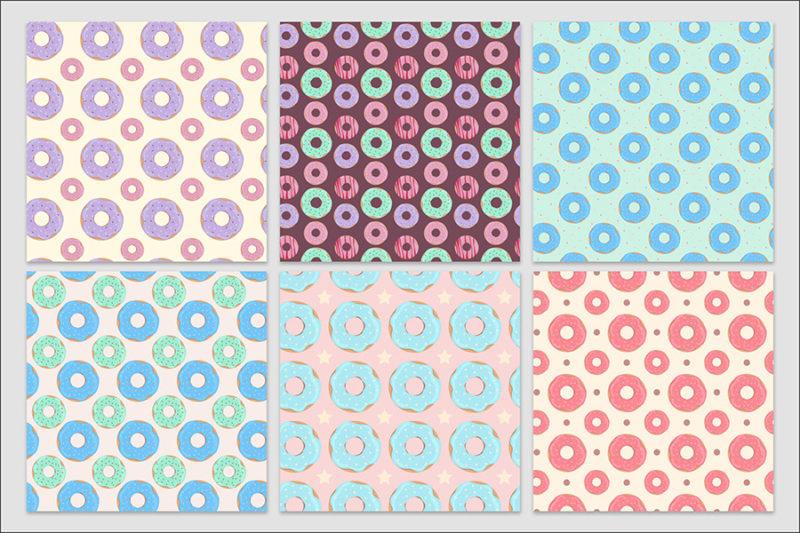 papier-cyfrowy-donuty-bezszwowe-wzory-paczki-z-dziurka-ciastka-pakiet-30-sztuk-3