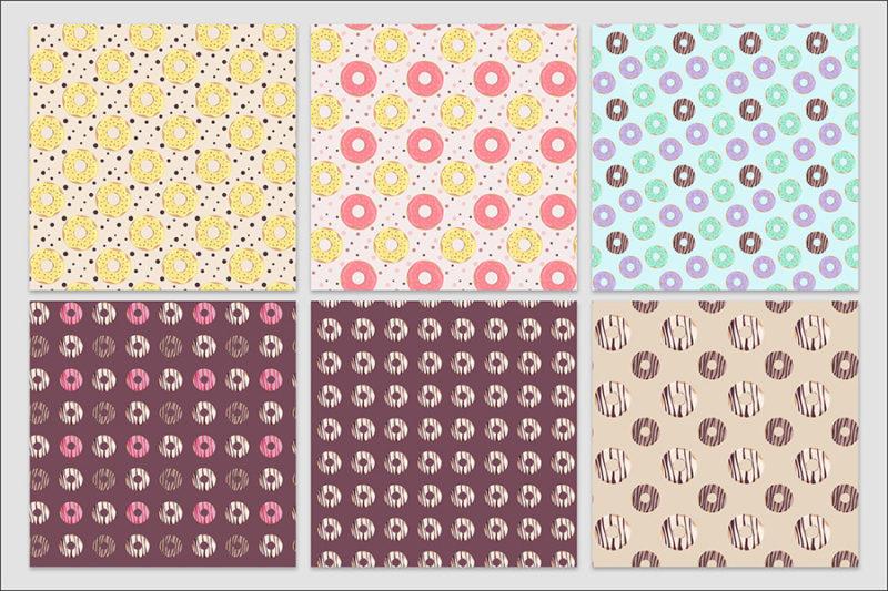 papier-cyfrowy-donuty-bezszwowe-wzory-paczki-z-dziurka-ciastka-pakiet-30-sztuk-4