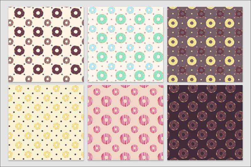 papier-cyfrowy-donuty-bezszwowe-wzory-paczki-z-dziurka-ciastka-pakiet-30-sztuk-5