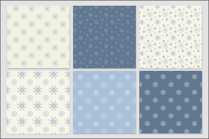 papier-cyfrowy-platki-sniegu-bezszwowe-wzory-zima-swieta-sniezki-pakiet-30-sztuk-2