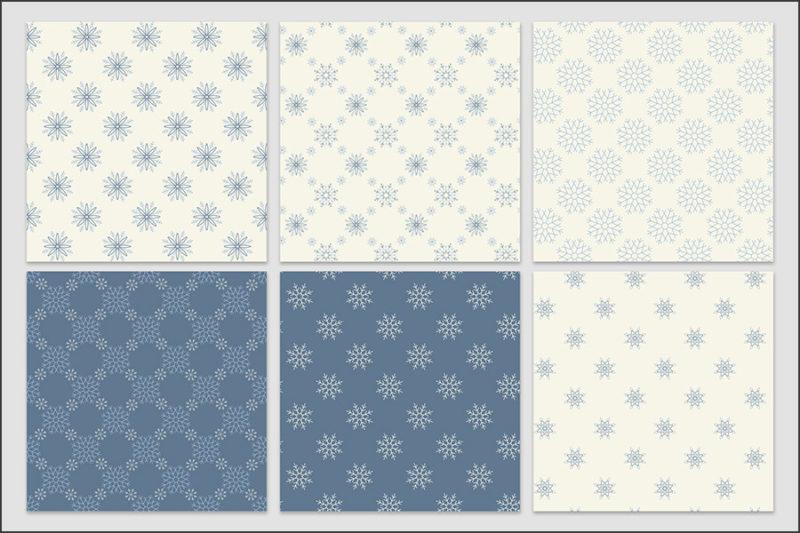 papier-cyfrowy-platki-sniegu-bezszwowe-wzory-zima-swieta-sniezki-pakiet-30-sztuk-3