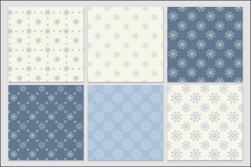 papier-cyfrowy-platki-sniegu-bezszwowe-wzory-zima-swieta-sniezki-pakiet-30-sztuk-4