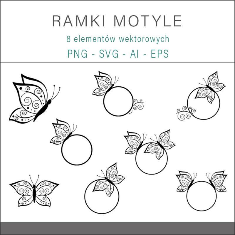 cyfrowe-ramki-okragle-motyle-czarne-ozdobne-grafika-szablon-1