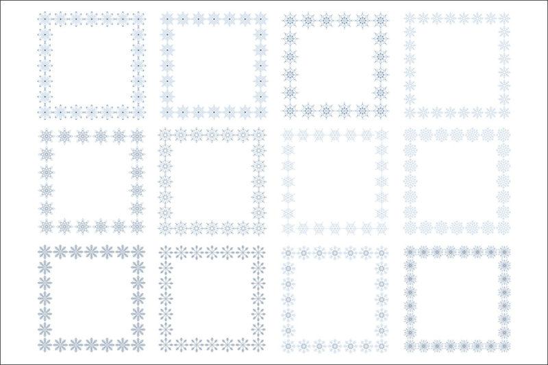 cyfrowe-ramki-platki-sniegu-swieta-boze-narodzenie-zima-kolorowe-czarne-biale-ozdobne-grafika-szablon-4