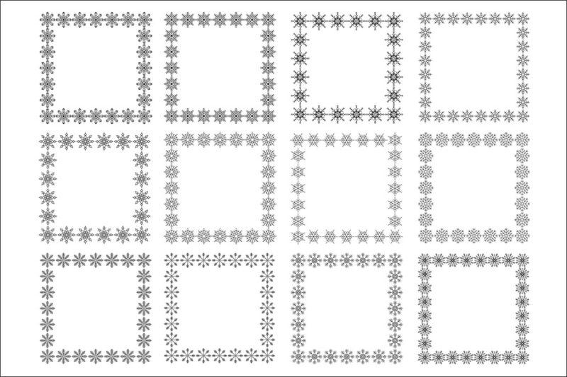 cyfrowe-ramki-platki-sniegu-swieta-boze-narodzenie-zima-kolorowe-czarne-biale-ozdobne-grafika-szablon-9
