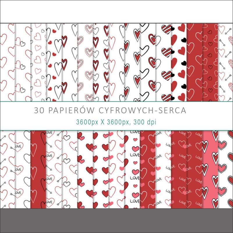papier-cyfrowy-serca-recznie-malowane-bazgroly-bezszwowe-wzory-valentynki-love-pakiet-30-sztuk-1