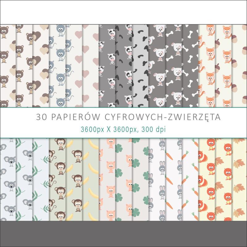 papier-cyfrowy-zwierzeta-bezszwowe-wzory-farma-dzungla-pakiet-30-sztuk-1