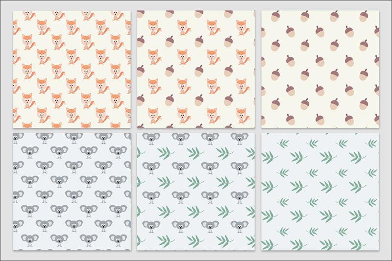 papier-cyfrowy-zwierzeta-bezszwowe-wzory-farma-dzungla-pakiet-30-sztuk-4
