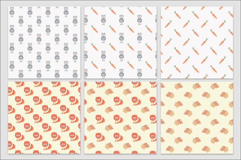 papier-cyfrowy-zwierzeta-bezszwowe-wzory-farma-dzungla-pakiet-30-sztuk-6