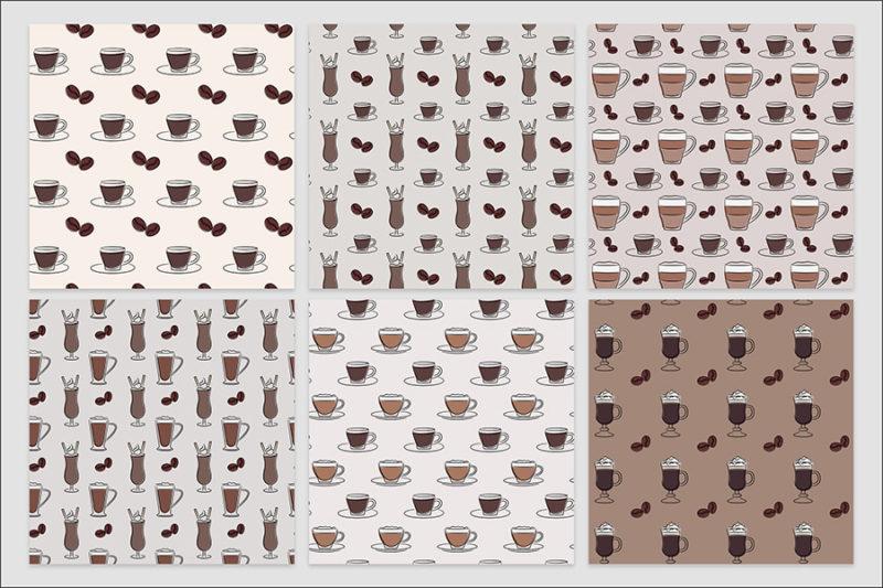 papier-cyfrowy-kawa-expresso-late-filizanka-mlynek--bezszwowe-wzory-pakiet-30-sztuk-2