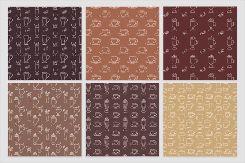 papier-cyfrowy-kawa-expresso-late-filizanka-mlynek--bezszwowe-wzory-pakiet-30-sztuk-5