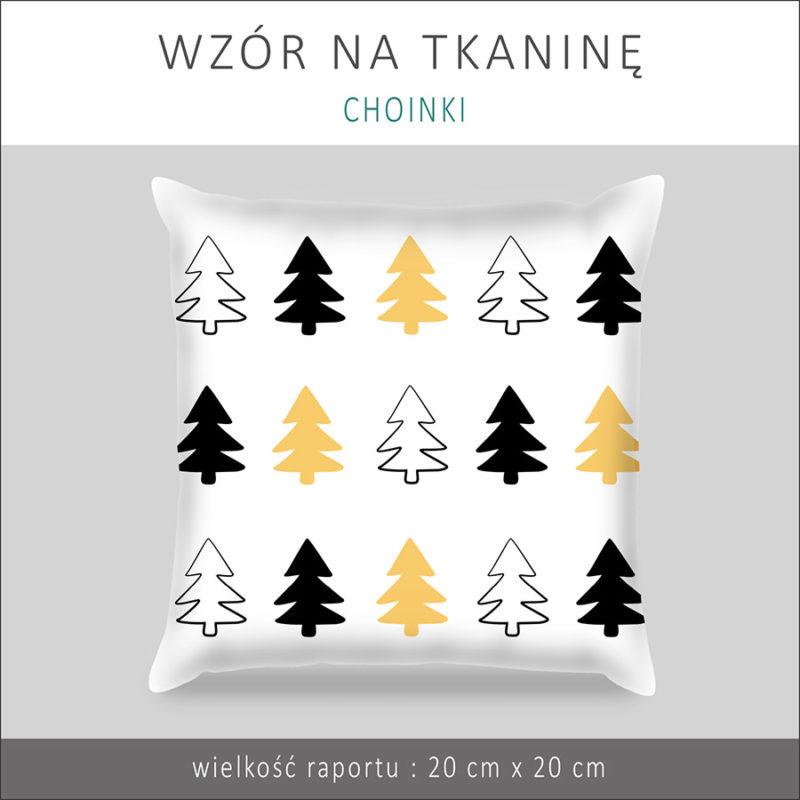 wzor-na-tkanine-tapete-choinki-czarne-zolte-wzor-skandynawski-wzor-bezszwowy-1