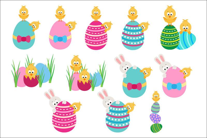 grafika-wektorowa-png-svg-ai-eps-wielkanoc-zajaczek-jajka-koszyczek-kurcatko-pisanki-ilustracja-clip-art-2