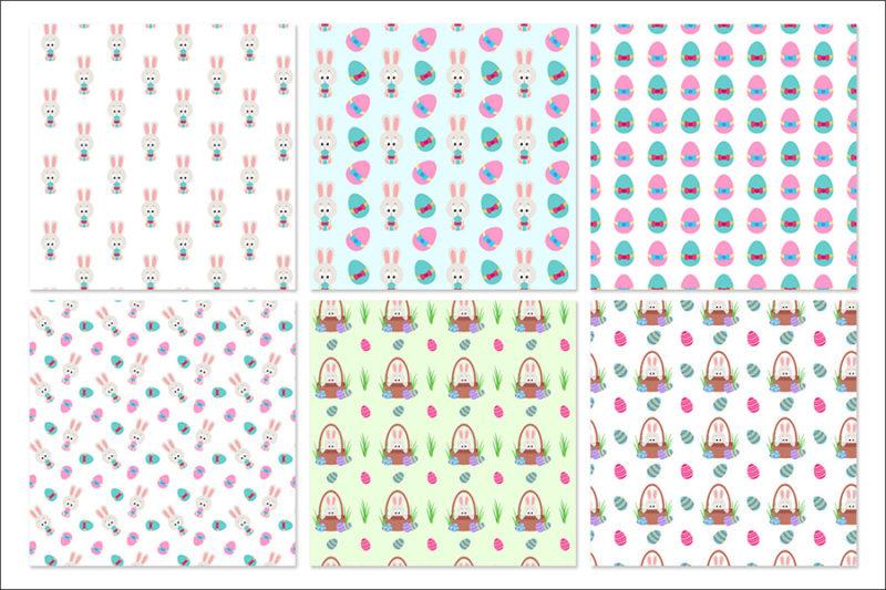 papier-cyfrowy-swiateczny-bezszwowy-wzory-wielkanoc-kroliczek-pisanki-koszyczek-pakiet-30-sztuk-2
