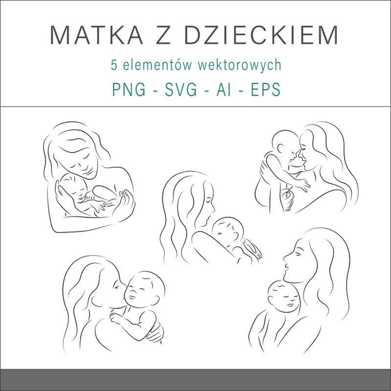 grafika-wektorowa-png-svg-ai-eps-nagie-matka-z-dzieckiem-figura-wektor-ilustracja-rysunek-1